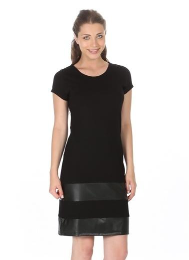 Limon Company Şerit Detaylı Kısa Elbise Siyah